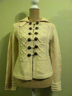 J Crew Wool Womens Nautical Sweater Cardigan S | eBay