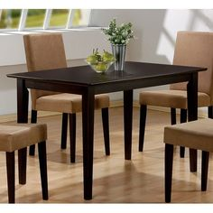 Coaster Hyde Rectangular Casual Dining Leg Table in Cappuccino Review. There are already different styles of tables that are being offered anywhere you are in the world. These tables are made from different kinds of materials for making tables. Such materials are the reason why there are quality types of tables that you can use at home. Cheap Dining Tables, Kitchen Table Bench, Formal Dining Tables, Dining Table In Kitchen, Dining Area, Pub Tables, Kitchen Nook, Wooden Kitchen, Ikea Kitchen