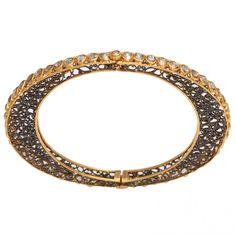 Oval Rose Cut Diamond Bracelet 01