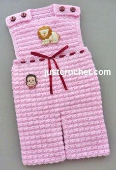 Free baby crochet pattern baby overalls usa