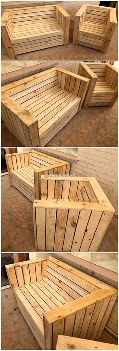 Let's share the great wondering of wooden pallet for you the place you can reuse the wood pallet into the super idea of bench and chair work. T… – do pallet Garden Furniture Inspiration, Garden Furniture Design, Pallet Garden Furniture, Diy Outdoor Furniture, Furniture Ideas, Barbie Furniture, Wooden Pallet Projects, Wooden Pallets, Pallet Ideas