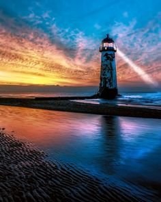 Light House Sunset by Adrian Evans - Explore the World with Travel Nerd Nici… Beautiful Landscape Photography, Landscape Photos, Beautiful Landscapes, Lighthouse Pictures, Beacon Of Light, Mont Saint Michel, Am Meer, Ciel, Beautiful Places