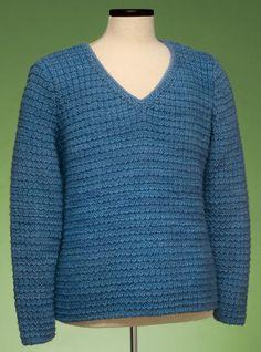 Garter Rib V-Neck Pullover #162