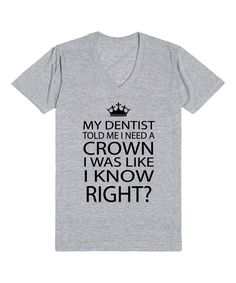 Look at this Riot Guide Heather Gray 'I Need a Crown' V-Neck Tee on #zulily today!