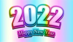 Free New Year Colorful Background 2022 Image