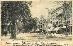 Somerville New Jersey NJ 1906 Downtown Main Street Antique Vintage Postcard