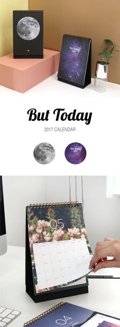Now, this is a beautiful calendar. This gorgeous 2017 But Today Calendar is a standing desk calendar that covers 14 months from November 2016 through December 2017. It features double sided monthly calendars making it easy to plan events and meetings with clients and coworkers. It also includes a bonus Out of Office sign! Each month is designed with a unique image inspired by the world around us to inspire your workday. It's the perfect calendar for your office at work or home, so check it…