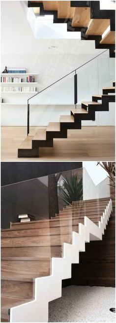 Staircase ideas - design and layout ideas to inspire your own staircase remodel painted diy, decorating basement remodel pictures - moder staircase ideas Staircase Remodel, Staircase Railings, Staircase Design, Stairways, Staircase Ideas, Staircase Decoration, Stair Detail, Glass Railing, Modern Stairs