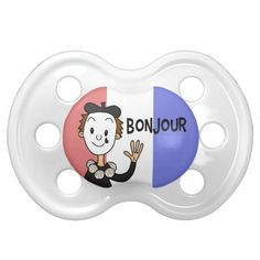 Your little one can say #Bonjour to the world too with this #BooginHead #Pacifier