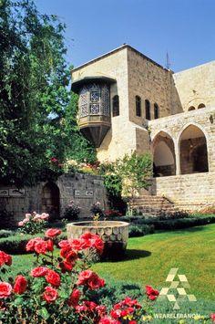 A beautiful garden in Beiteddine Beautiful Gardens, Beautiful Homes, Beautiful Places, Lebanon Culture, Urban Fabric, Landscape Concept, Beirut Lebanon, Italian Villa, Mediterranean Garden