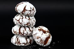 Chocolate Crinkles (chocolate crinkles) - Recipe in english Chocolate Crinkle Cookies, Chocolate Crinkles, Baby Food Recipes, Cookie Recipes, English Food, Dessert Drinks, Eat Dessert First, Macaron, Culinary Arts