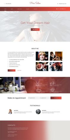 Hair Salon Responsive One Page Theme. HTML/CSS Themes. $12.00