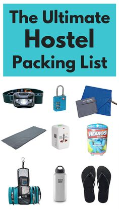Not sure what to pack for a hostel? Check out my hostel packing list with 11 essential things you need to take with you when staying at a hostel.