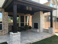 Outdoor Kitchen Patio, Outdoor Kitchen Design, Outdoor Living, Covered Outdoor Kitchens, Small Outdoor Kitchens, Backyard Pavilion, Backyard Patio Designs, Patio Ideas, Covered Patio Design