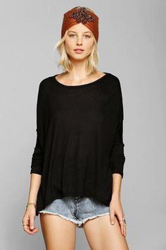 Corner Shop slouchy drape tee. #urbanoutfitters