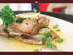 Pan-grilled marinated Blue Marlin with seasoning and calamansi juice served with lemon butter sauce. Calamansi Juice, Lemon Butter Sauce, Blue Marlin, Catering, Choices, Grilling, Menu, Dishes, Food