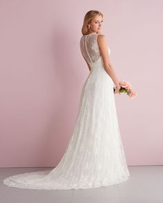 Allure Bridals : Romance Collection : Style 2707 : Available colours : White, Ivory (back)