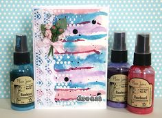 Dream - Scrapbook.com - Pretty color combination and artistic effects on this handmade card.