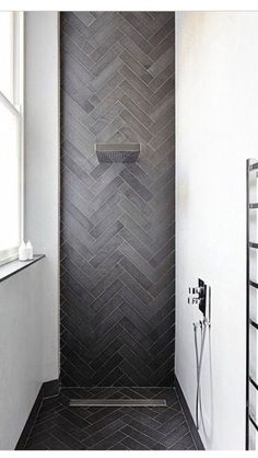Emperors Gate, South Kensington, London - contemporary - Bathroom - London - Dyer Grimes Architecture - Because tiles should be installed in a chevron pattern in your bathroom Bathroom Renos, Laundry In Bathroom, Bathroom Interior, Bathroom Ideas, Bathroom Vanities, Bathroom Grey, Bathroom Photos, Bad Inspiration, Bathroom Inspiration