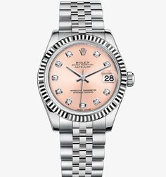 Rolex Datejust Lady 31 Watch: White Rolesor - combination of 904L steel and 18 ct white gold – M178274-0022