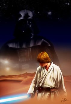 Star Wars A New Hope Luke Skywalker - Darth Vader by MrWills.deviantart.com