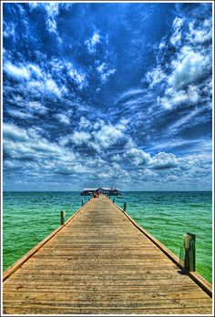 Anna Maria Island Pier by tebographics, via Flickr. What a stunning photo-Wow!