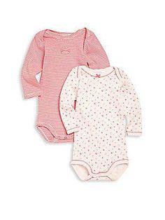Petit Bateau Baby's Two-Piece Bodysuit Set - Pink