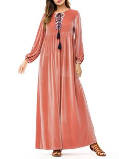 Vintage Plus Size Blouses And Bohe Dresses For Women Mobile Iranian Women Fashion, Muslim Fashion, Pink Long Sleeve Dress, Dresses With Sleeves, Cheap Maxi Dresses, Casual Dresses, Plus Size Blouses, Plus Size Dresses, Pakistani Formal Dresses