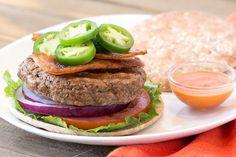 Hungry Girl's Healthy Hot Stuff Sriracha Bacon Burger Recipe