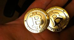 Bitcoins in hand