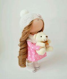 """Fabric play doll / Коллекционные куклы ручной работы. Ярмарка Мастеров - ручная работа. Купить Интерьерная куколка ручной работы """"Мимимишки"""". Handmade."""