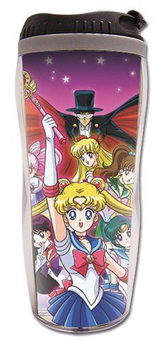 Sailor Moon Group Tuxedo Kamen, Chibimoon Sailor Mars Tumbler Travel Coffee Mug