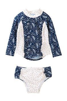 Image of Jessica Simpson Rashguard Swimsuit (Baby Girls)
