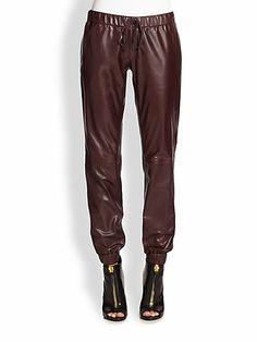 Haute Hippie Leather Sweatpants