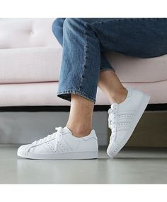 Adidas Superstar All White Womens Shoes 3c824db733