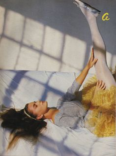 Mademoiselle October 1984 'A Little Night Magic' by Patrick Demarchlier model Paulina Porizkova