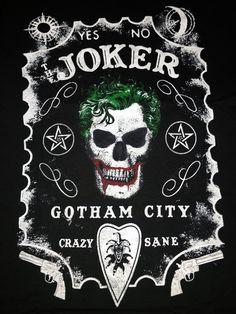 "DC Comics The Joker ""YES-NO, CRAZY-SANE Men's T-shirt"