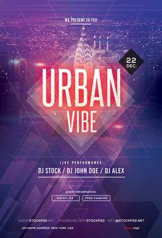 Urban Vibe Electro Party Free Flyer Template - http://freepsdflyer.com/urban-vibe-electro-party-free-flyer-template/ Enjoy downloading the Urban Vibe Electro Party Free Flyer Template created by Stockpsd! #Club, #Dance, #Dj, #EDM, #Electro, #Nightclub, #Party, #Techno, #Trance, #Urban