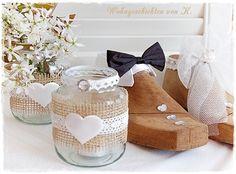 Windlicht Hochzeitsdeko Vintage Hochzeit Shabby