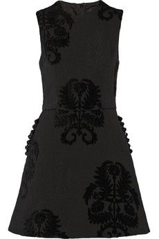 Simone Rocha Embellished flocked brocade mini dress | NET-A-PORTER