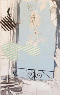 Mario Schifano, finestra con pianta, 1965-66, Casa Museo Alberto Moravia, Roma (Seen at Roma Pop)