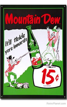 Mountain Dew Tickle Metal Sign