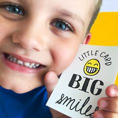 Send a mini card to give big smiles to a friend to brighten up their day. Cheer Up Gifts, Rough Day, Get Happy, Hand Illustration, Letterpress, First Love, Smile, Lettering, Big