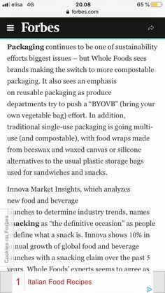 Whole Food Recipes, Sustainability, Effort, Packaging, Wrapping, Sustainable Development