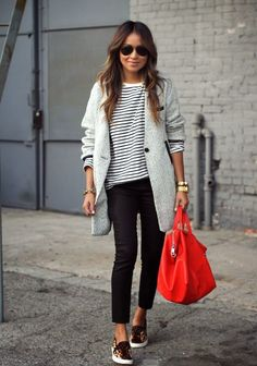 From Sincerely Jules...find this same look for less!  The red bag is amazing!!! www.wearitforless.com