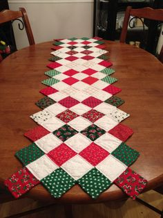 Quilted table runner #MyHolidayCookbook #Contest