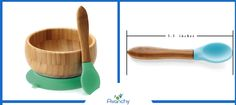 Let's face it, sometimes feeding a child can be a messy job. The last thing a parent wants is a spill to clean up. This Avanchy Bamboo Stay Put Suction Bowl can help make meal time a little less messy.  #BambooSuctionBowl #BabySpoon #LillyPillyBaby