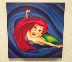Shop disney canvas on wanelo paintings disney princess paintings, disney ca Disney Princess Bild, Disney Princess Paintings, Disney Canvas Paintings, Princess Drawings, Disney Kunst, Disney Art, Ariel Disney, Diy Painting, Painting & Drawing