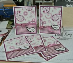 Stamping in Columbus, GA, Stampin' Up!, One Sheet Wonder, Paisleys and Posies