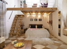 35 Mezzanine Bedroom Ideas | The Sleep Judge Mezzanine Bedroom, Bedroom Loft, Dream Bedroom, Girls Bedroom, Bedroom Decor, Trendy Bedroom, Loft Mezzanine, High Ceiling Bedroom, Master Bedroom